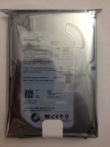 disco duro 500gb sata 7200rpm seagate st500dm009