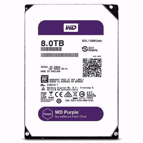 disco duro 8tb western digital purple 24-7 sata 6.0gbjs