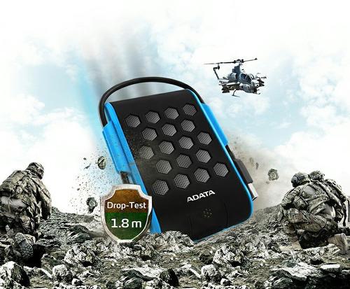 disco duro adata externo hd720 1tb. antigolpes, agua y polvo