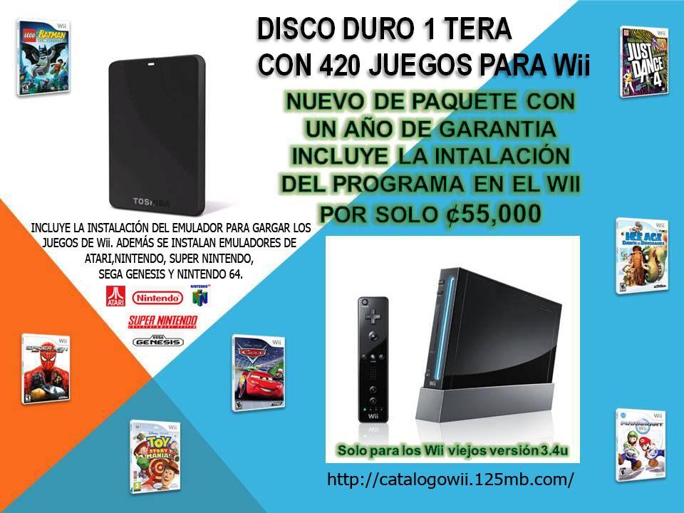 Disco Duro De 1 Tera Nuevo Incluye 430 Juegos Para Wii 55 000 00