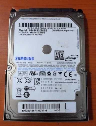 disco duro de  320 para laptop.