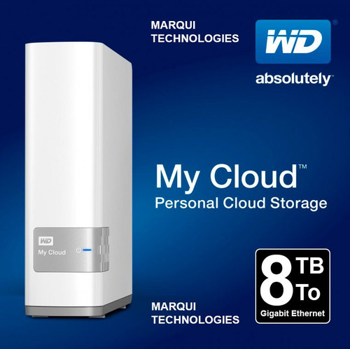 disco duro ext western digital my cloud 8tb nas lan usb3.0