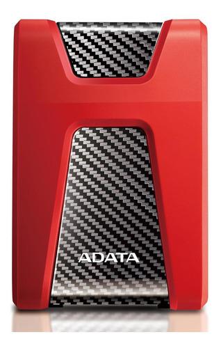 disco duro externo 1tb adata rojo ahd650 antigolpes