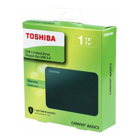Disco Duro Externo 1tb Toshiba Canvio Basics Usb 3.0 + Obseq