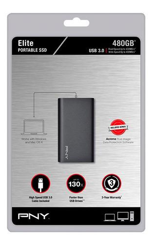 disco duro externo pny sata 6 usb 3.0 480gb tlc