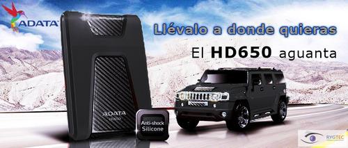 disco duro externo portatil hd650 2tb adata verde o negro