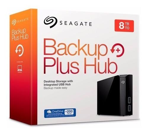 disco duro externo seagate 8tb 3.5 backup plus hub usb 3.0