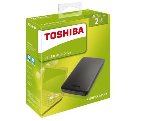 disco duro externo toshiba 2tb usb 3.0/ 2.0 nuevo en caja