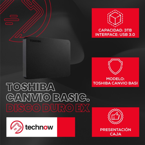 disco duro externo toshiba 3tb canvio basics version 2018