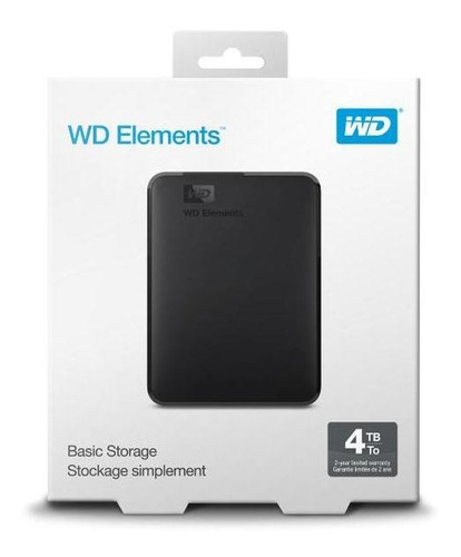 disco duro externo wd elements 2.5  4tb usb 3.0