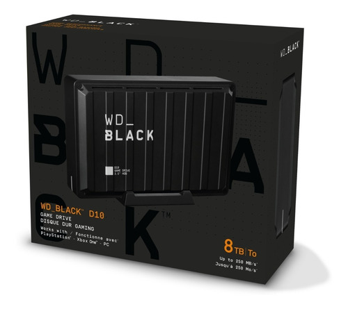 disco duro externo wd_black d10 8tb xbox, ps4, pc escritorio