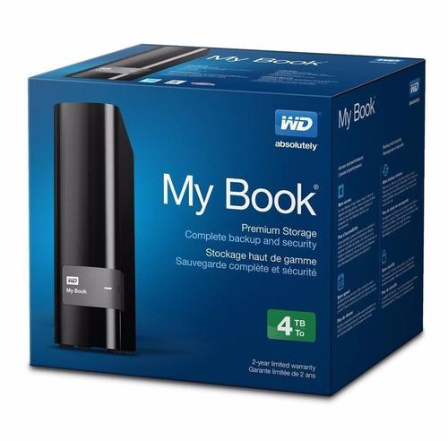 disco duro externo western digital my book 4tb usb 3.0 2.0