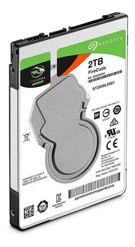 disco duro firecuda seagate 2tb sata 6.0gb/s 2,5 pulg. pce