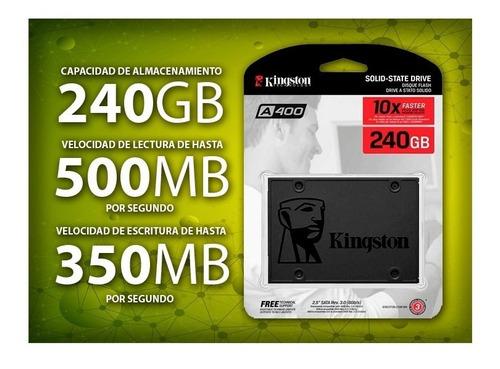 disco duro hd estado solido ssd kingston 240gb 5 años gtia