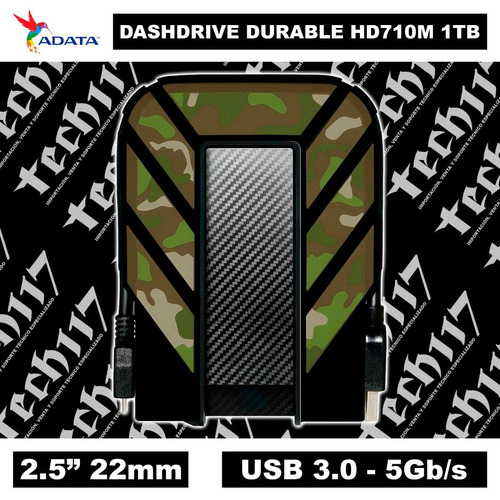disco duro hdd 2.5'' 22mm adata durable hd710m 1tb usb 3.0