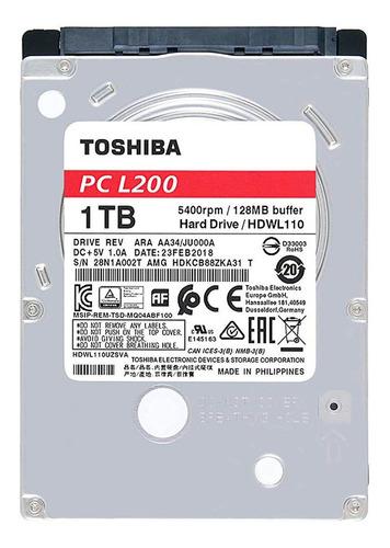 disco duro hdd 2.5 7mm toshiba l200 1tb 5400rpm sata 3.0