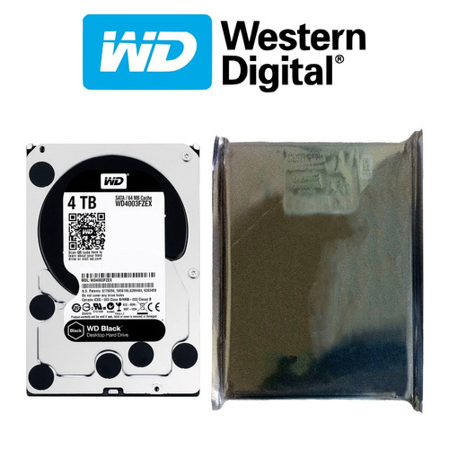 disco duro hdd 3.5'' 26.1mm wd black 4tb 7200rpm sata 3.0