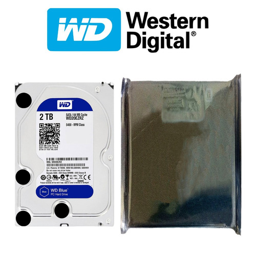 disco duro hdd 3.5'' 26.1mm wd blue 2tb 5400rpm sata 3.0