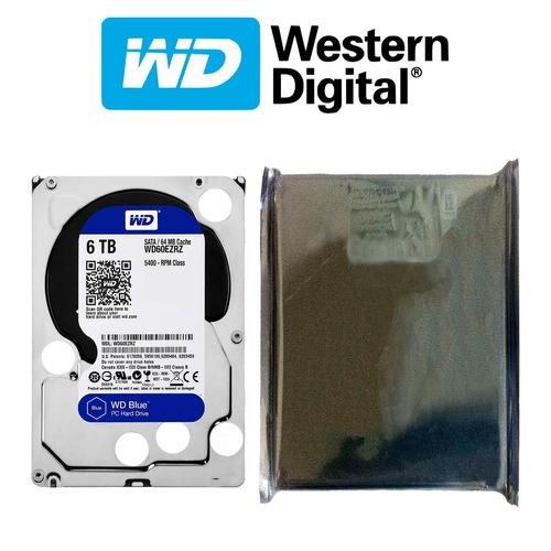 disco duro hdd 3.5'' 26.1mm wd blue 6tb 5400rpm sata 3.0