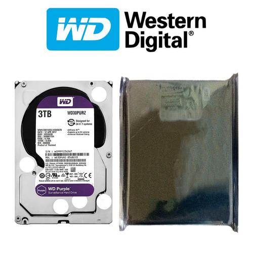 disco duro hdd 3.5'' 26.1mm wd purple 3tb 5400rpm sata 3.0