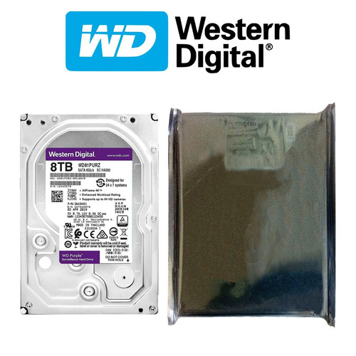 disco duro hdd 3.5'' 26.1mm wd purple 8tb 5400rpm sata 3.0