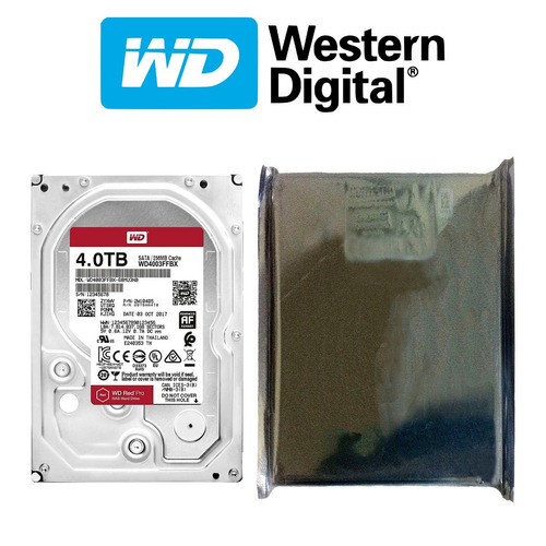 disco duro hdd 3.5'' 26.1mm wd red pro 4tb 7200rpm sata 3.0