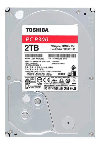 disco duro hdd 3.5 toshiba p300 2tb 7200rpm 64mb sata 3.0