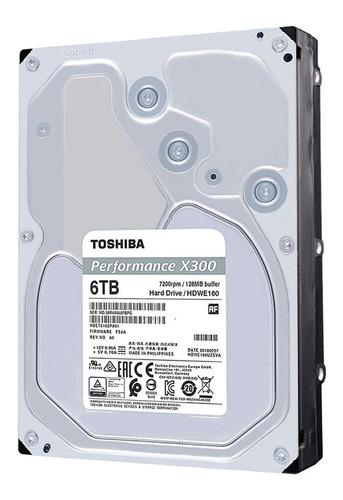 disco duro hdd 3.5 toshiba x300 6tb 7200rpm 128mb sata 3.0