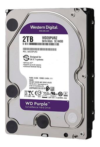 disco duro hdd 3.5 wd purple 2tb 5400rpm 64mb sata 3.0
