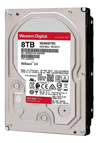 disco duro hdd 3.5 wd red pro 8tb 7200rpm 256mb sata 3.0