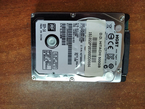 disco duro  hitachi hgst laptop hts545050a7e380 5400 rpm