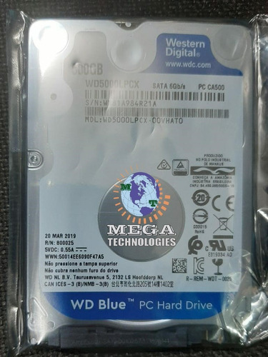 disco duro interno 2.5'' para laptop western digital 500gb