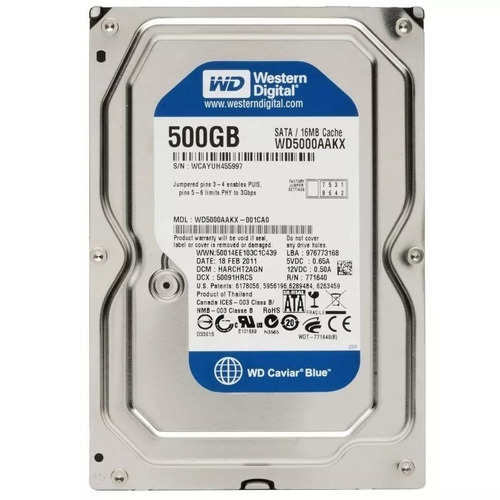 disco duro interno 500gb sata 3.5 para pc dvr  7200rpm