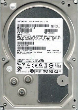 disco duro interno hitachi para pc 3.5'' 2tb hdd nuevo