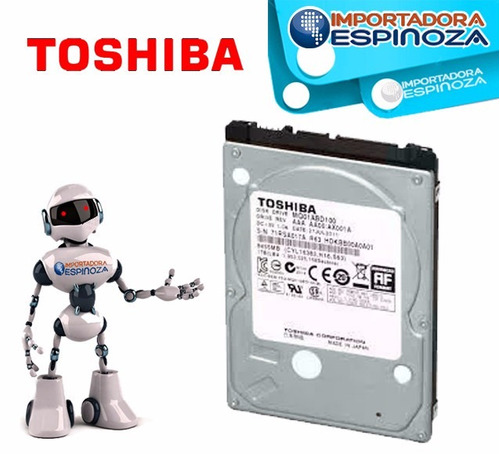 disco duro interno toshiba para laptop 1tb tera 5400 rpm 2,5