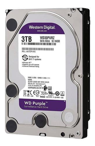 disco duro interno wd 3tb purple 3.5  0 horas no refurbished