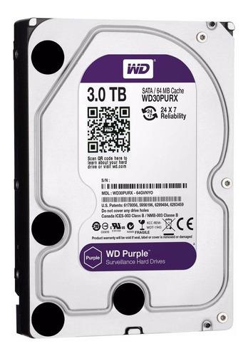 disco duro interno wd purple 3tb / videovigilancia / sata 3