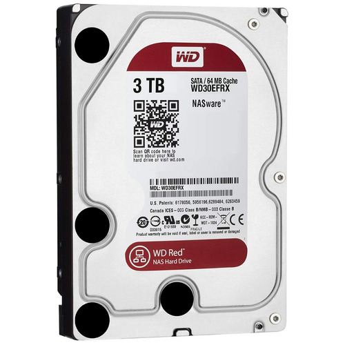 disco duro interno western digital wd red 3.5'' 3tb sata3