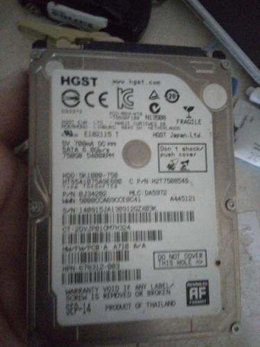 disco duro lap top 750 gb