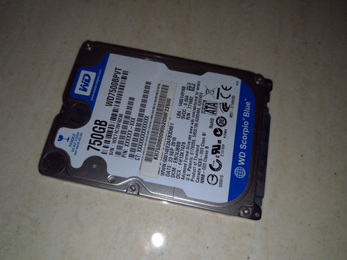 disco duro laptop 750gb western digital 2.5