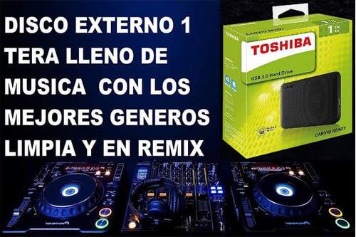 disco duro lleno  de musica remix y limpia 1 tera
