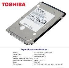 disco duro para laptop 2.5 de 1 terabyte marca toshiba