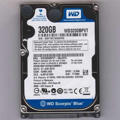 disco duro para notebook de 320gb sata