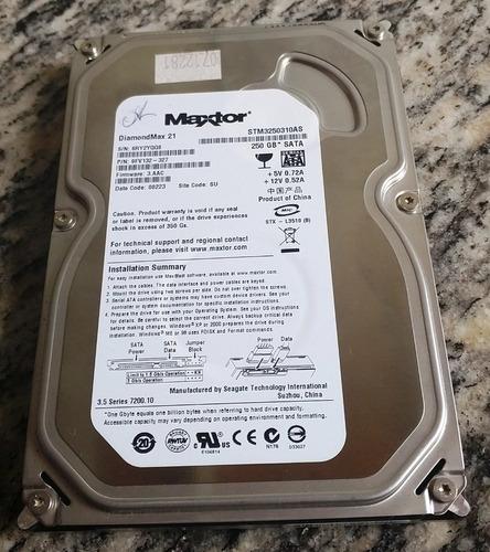 disco duro para pc maxtor 250 gb sata
