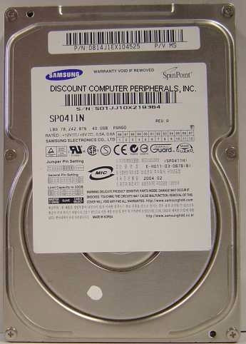 disco duro pc samsung sp0411n 40.00gb ide dañado