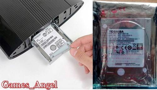 disco duro ps3 super slim hdd 500gb + soporte case, ps3 12gb