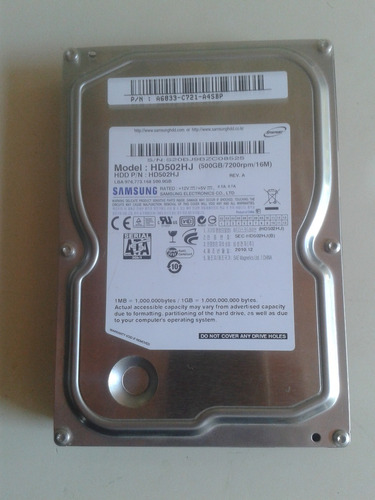disco duro samsung/hitachi 500gb 7200 rpm dvr/pc 93 horas