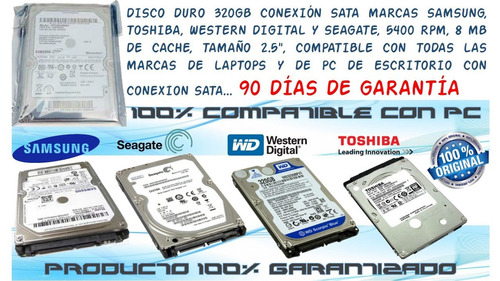 disco duro sata 320gb compatible ps3,xbox,dvr,laptop,pc