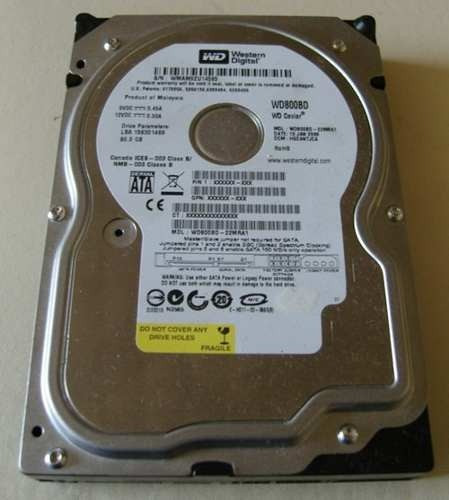 disco duro sata 80gb western digital