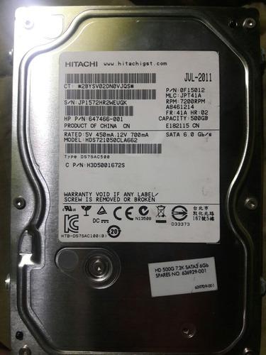 disco duro sata hitachi 500gb para pc